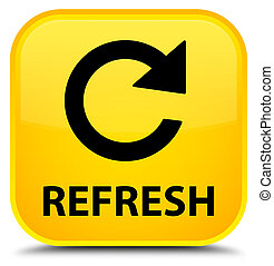 Refresh (rotate arrow icon) special yellow square button