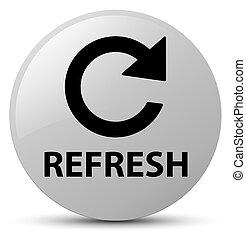 Refresh (rotate arrow icon) white round button