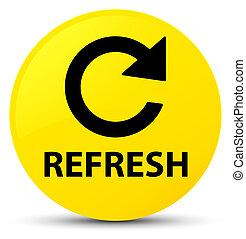 Refresh (rotate arrow icon) yellow round button