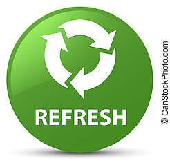 Refresh soft green round button