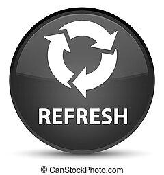Refresh special black round button
