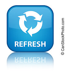 Refresh special cyan blue square button