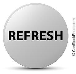 Refresh white round button