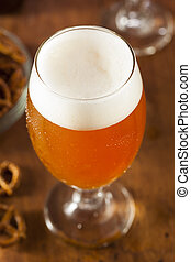 Refreshing Belgian Amber Ale Beer in a Glass