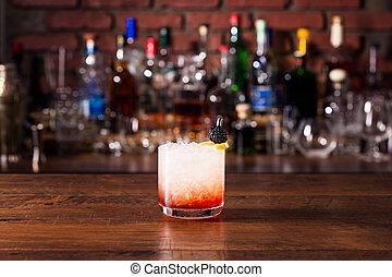 Refreshing Blackberry Gin Bramble on a Bar