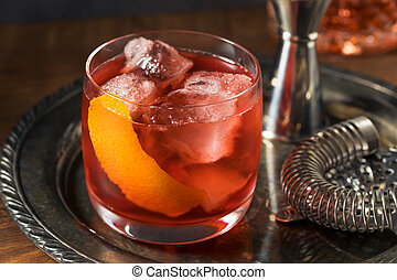 Refreshing Boozy Boulevardier Cocktail with Orange and ...