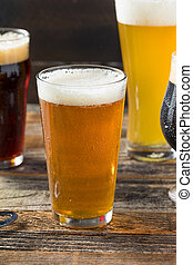 Refreshing Cold Craft Beer Assortment of IPA Lager and Stout