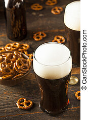 Refreshing Dark Stout Beer Ready to Drink