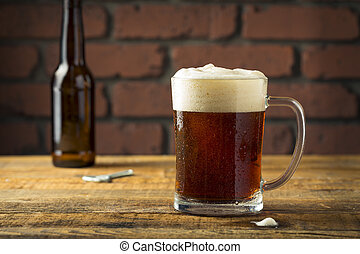 Refreshing Empty Beer Mug in a Bar