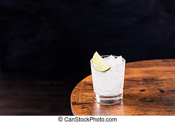 Refreshing Gin and Tonic on a Table