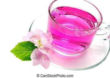 Refreshing herbal tea roses.