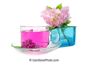 Refreshing herbal tea roses.