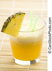 refreshing pineapple and orange milkshake