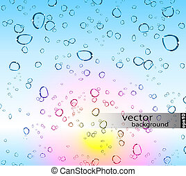 Refreshing Rain Drops Background with delicate gradients