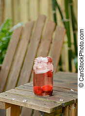 refreshing strawberry beverage