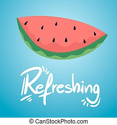 refreshing watermelon illustration