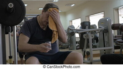Refreshment during a training break