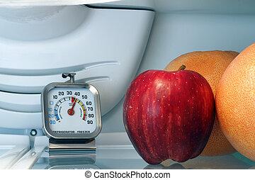 refrigerador, temperatura