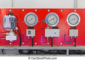 Commercial refrigeration unit control with gauges and valves