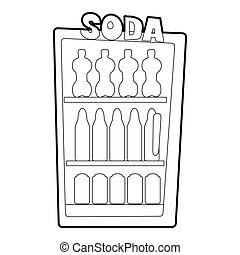 Refrigeration icon, outline style - Refrigeration icon....