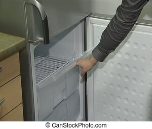 refrigerator door closing - refrigerator cabinet door and...