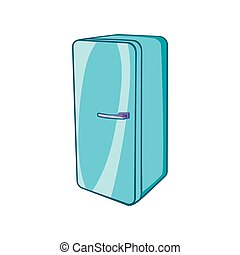 Refrigerator icon, cartoon style