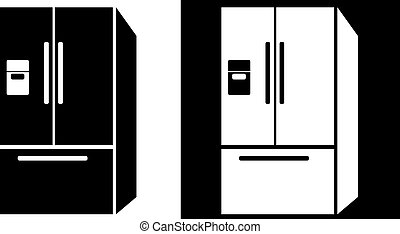 Refrigerator icon isolated on a white background.