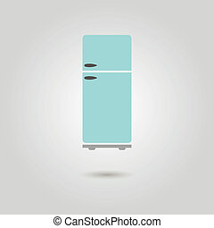refrigerator icon with shadow