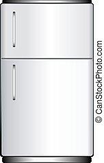 Refrigerator - Illustration of a refrigerator, isolated on...