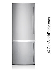 refrigerator isolated on white