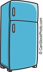 Refrigerator vector cartoon