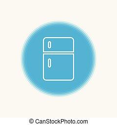refrigerator vector icon sign symbol