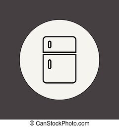 refrigerator vector icon sign symbol