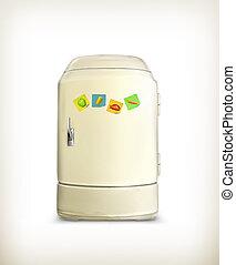 Refrigerator, vector