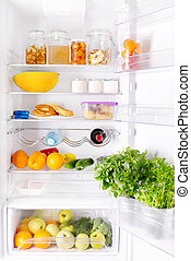 refrigerator with products