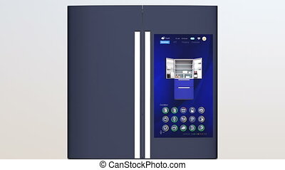 Refrigerator with touch screen - Smart refrigerator with...