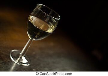 refroidi, espace, colorer image, verre, blanc, copie, vin