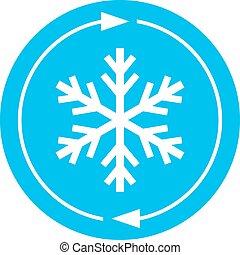 refroidissement, vecteur, ventilateur, symbole