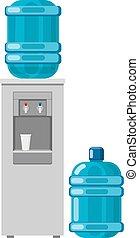 refroidisseur eau, entiers, bouteille