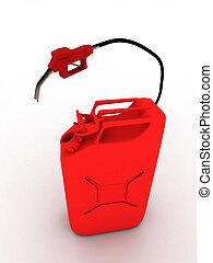 refueling, tuyau, asphyxiez boîte, rouges