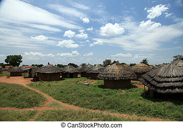Refugee Camp - Uganda, Africa - Small Rural Village in...