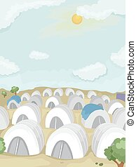 Refugee Camp White Tents