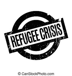 Refugee Crisis rubber stamp