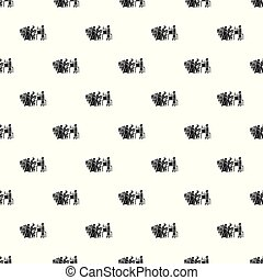 Refugee people take food pattern seamless vector repeat for...