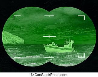 Refugees - Concept Photo - Abandoned boat on the coast - ...