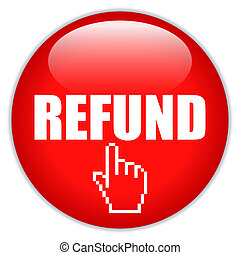 Refund request vector icon