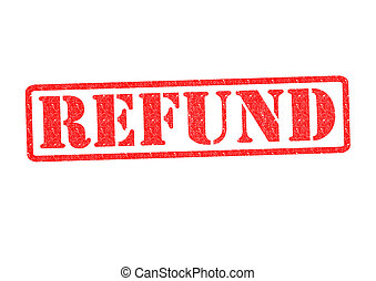 REFUND Rubber Stamp over a white background.