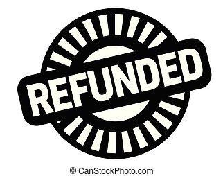Refunded black stamp, sign, label Black badge series