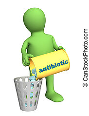 Refusal of use antibiotic - Conceptual image - refusal of...