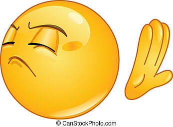 Emoticon making deny sign